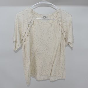 Lucky Brand Tan cut out gold top ultra soft Large